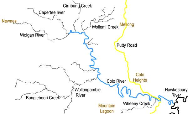 Colo River Map - Colo river map
