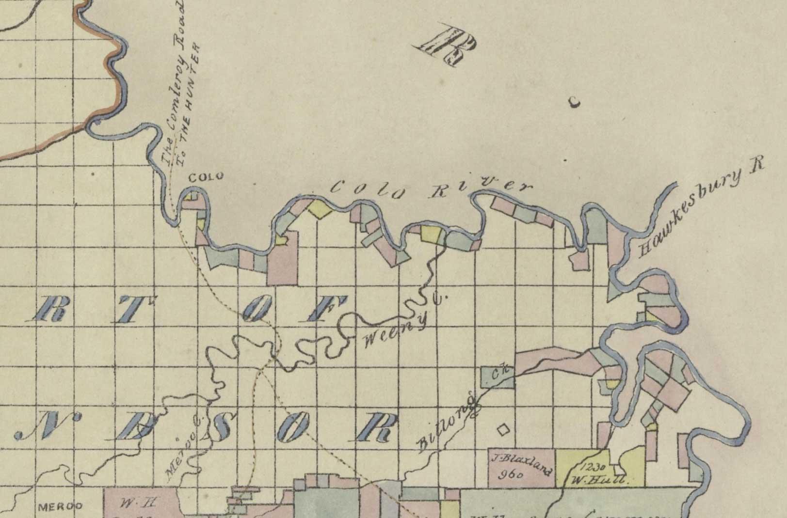 1836 Colo Map