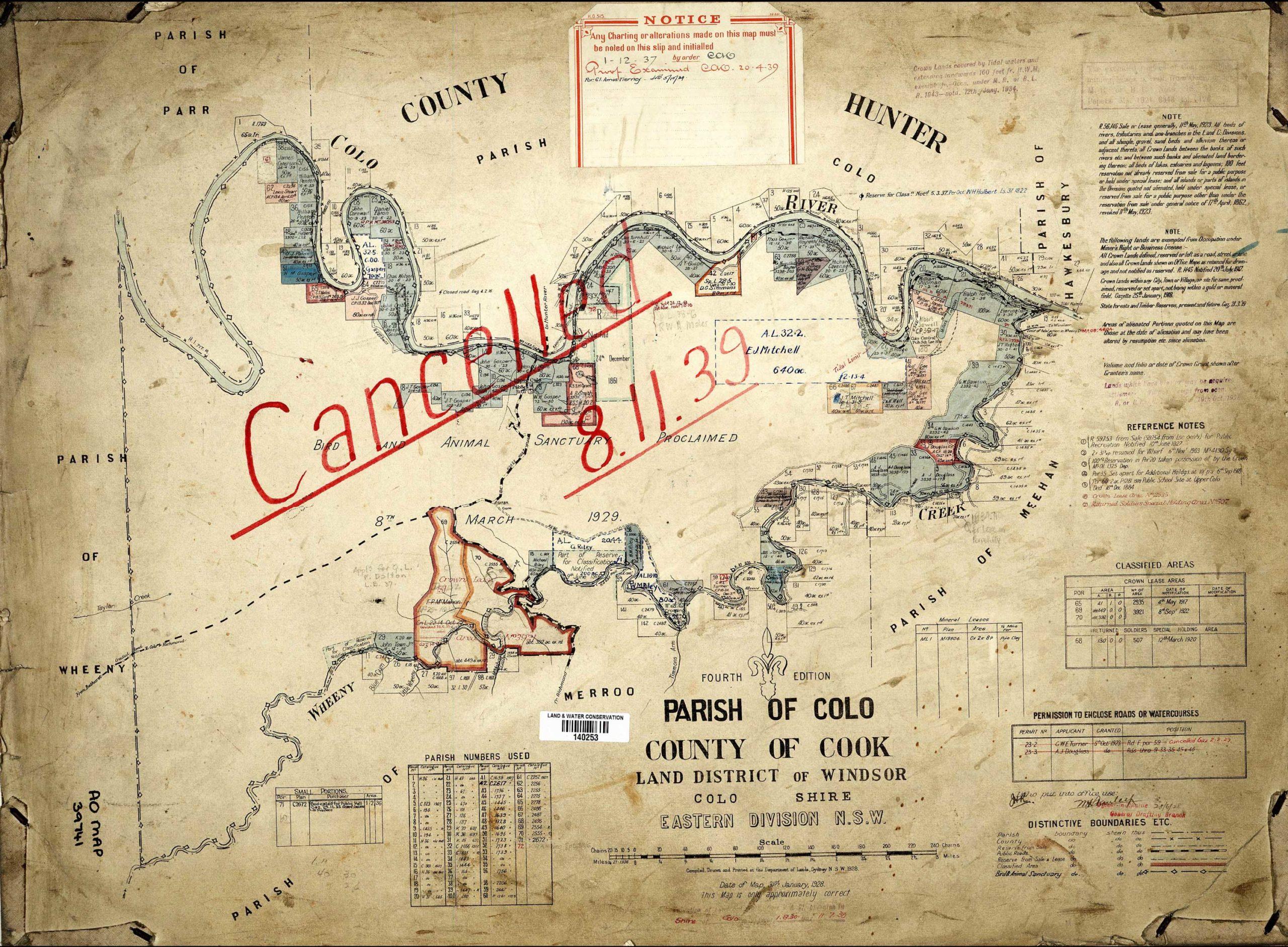 Colo Parish Map